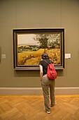 The Harvesters' (1565) painting by Pieter Bruegel the Elder at the Metropolitan Museum of Art, Manhattan. NYC, USA