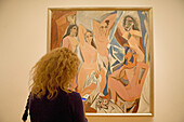 Les demoiselles d'Avignon' (1907) by Picasso at Museum of Modern Art (MOMA), Manhattan. NYC, USA
