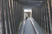 Moving walkway connecting old town with the city, Vitoria. Alava, Euskadi, Spain
