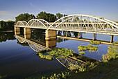 Iron bridge, at  Coria. Cáceres province. Extremadura. Spain.