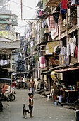 Smokey Mountains ' of Manila, slums which have grown up on the city's garbage dumps and where thousands of families live by recovering and recycling the waste products. Manila. Philippines.