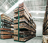 Abundance, Abundant, Box, Boxes, Color, Colour, Deserted, Horizontal, Indoor, Indoors, Industrial, Industry, Interior, Logistic, Logistics, Nobody, Pallet, Pallets, Perspective, Plenty, Shelf, Shelves, Shelving, Storage, Store, Storehouse, Stores, Transpo