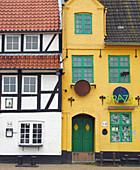 Department store, warehouse, harbour, Flensburg, Schleswig-Holstein, Germany.