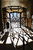 Hall of Mila House (aka La Pedrera) by Gaudi in Passeig de Gracia, Barcelona. Catalonia, Spain