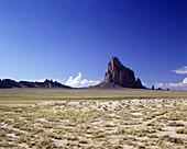 scenic ship rock peak new mexico usa