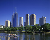 yarra river melbourne skyline victoria australia