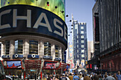 Chase Bank building at Times Square, Manhattan, NY, USA