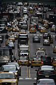 Traffic, 42nd Street, midtown Manhattan, NYC, USA