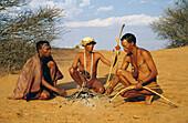 ¡Kung bushmen, Kalahari Game Reserve. Namibia