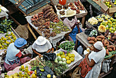 The market, Pointe à Pitre the capital. Guadaloupe, French Antilles. France