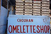 Omelette shop, Jodhpur. Rajasthan. India