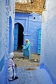 Street, Chefchaouen. Rif region, Morocco