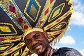 People in costume, Trinidad Carnival, Queens Park Savannah, Port of Spain, Island of Trinidad, Trinidad and Tobago