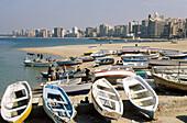 Fishing boats. Corniche. Alexandria. Egypt.