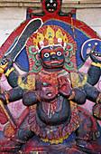 Nepal, Kathmandu, Durbar square. Kal Bhairab statue