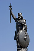 Winchester, Statue of King Alfred, Hampshire. UK.