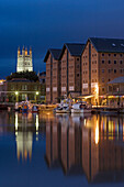 Gloucester, the Docks, 18th century, warehouses, Cathedral, Gloucestershire, the Cotswolds, UK