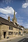 Stamford, All Saints' Street, All Saints' Church, Lincolnshire, the Midlands, UK