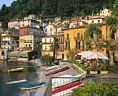 Harbor and restaurant. Varenna. Lake Como. Lombardia. Italy