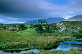 Europe, Great Britain, Ireland, Co. Galway, Connemara, cottage near Maam Cross