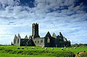Ruins of Ross Abbey near Headford, Connemara, County Galway, Ireland, Europe