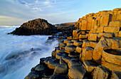 Giant's Causeway, Basalt Columns at the coastline, County Antrim, Ireland, Europe, The Giant's Causeway, World Heritage Site, Northern Ireland