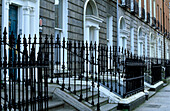 Row of houses at Fitzwilliam Lane, Dublin, Ireland, Europe