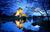 Ross Castle at Lough Leane in the evening, Killarney National Park, County Kerry, Ireland, Europe