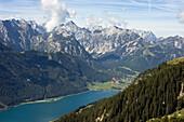 Achensee, Blick vom Rofan auf Karwendel-Gebirge, Österrreich