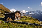 Mountain hut in the Zillertal Alps, Tyrol, Austria