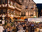 Festival in the old part of town, Forchheim, Franconia, Germany