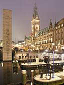 Christmas Fair, Town Hall, Hanseatic City of Hamburg, Germany