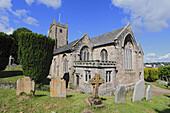 Parish church of St Michael the Archangel and cemetery, Chagford, Dartmoor, Devon, England, United Kingdom