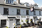 The Globe Inn restaurant, Chagford, Dartmoor, Devon, England, United Kingdom