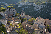 View at the ancient village Les Baux-de-Provence, Vaucluse, Provence, France