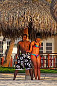 Aruba, Palm Beach, West Indies, Dutch Carribean, Central America, local couple