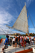 Aruba, Palm Beach, West Indies, Dutch Carribean, Central America, Palm Pleasure Catamaran