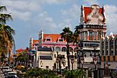 West Indies, Aruba, Oranjestadt, main street, Crystal Casino