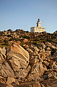 Italy Sardinia Capo Testa bizarre rock landscape lighthouse