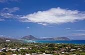 View of Maunalua Bay and Koko Head, Oahu, Pacific Ocean, Hawaii, USA