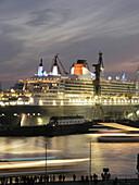 Queen Mary 2 in dockyard, Hamburg, Germany