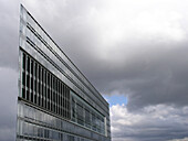 Facade of the Deichtor Centre under grey clouds, Hanseatic City of Hamburg, Germany