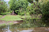 Idyllic landscape at the eastern coast of Bali, Indonesia