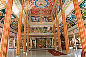 Interior view of the Vat That Luang Tai, Buddhistic prayer hall, Vientiane, Province Vientiane, Laos