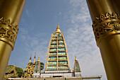 Detail of a temple on the grounds of the Shwedagon Pagoda at Yangon, Rangoon, Myanmar, Burma