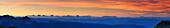 panorama Dolomites with Iffinger Spitze, Piz Boe, Langkofel, Plattkofel, Marmolada, Kesselkogel, Rosengartenspitze, Palagruppe, Latemar, Monte Agnello and Lagorai, Spronser Joch, Texelgruppe range, South Tyrol, Italy