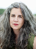 Facing camera, Female, Forties, Fourties, Gray-haired, Grey hair, Grey haired, Grey hairs, Grey-haire