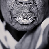 African woman's lips. Gambia