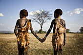 Hamer girls. South Ethiopia. African people