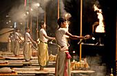 Night ritual, Varanasi. Uttar Pradesh, India
